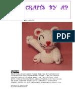 Crocheted Maneki Neko Lucky Cat