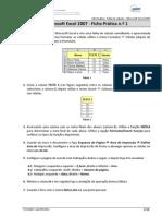 Ficha de Tarbalho Excel 2010 - Parte 1