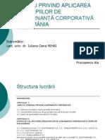Principiile Guvernantei Corporative