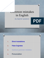 Common Mistakes in English Advanced