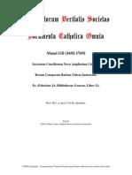 1692-1769, Mansi JD, Sacr Conc Coll Rerum Conspectus Ratione Littera Instructus, LT