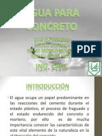 Expo de Quimica Agua Para Concreto