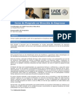 CdeP en Dirección de Empresas 2013