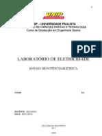 Relatório Eletricadade - Potencia Elétrica
