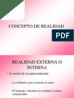 Concepto de Realidad