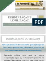 ALM030 - Desidratação e Liofilização