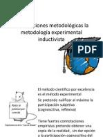 Prescripciones metodológicas la metodología experimental indicativita