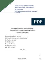 Documento Fundacional Doctorado en Estudios Organizacionales 04-1214