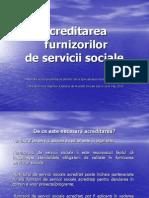 Acreditarea Furnizorilor de Servicii Sociale AJPS Iasi