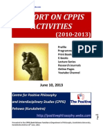 Report on CPPIS Activities *2010-2013)