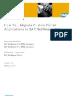 Migrate Custom Portal Applications to SAP NetWeaver 73