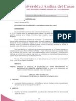 Directiva Sobre Procedimiento de Matriculas Semestre 2013-II