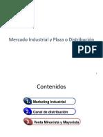 mercado industrial y plaza o distribución