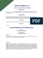 Decreto 61-77 Ley Tabaco
