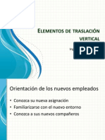 Elementos de traslación vertical