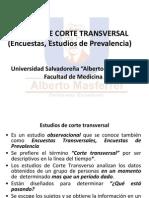 Estudios de Corte Transversal (Encuestas, Estudios