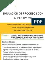 Introducción Aspen HYSYS
