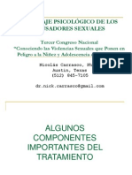 Abordaje Psicologico de Los Abusadores Sexuales