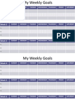 my weekly goals