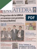 Premio Nacional Innova Bolivia 2012-2013 La Cátedra Mayo 2013 I