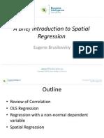 Brusilovskiy_A Brief Introduction to Spatial Regression