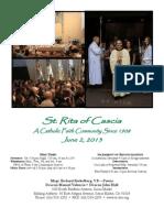 St. Rita Parish Bulletin 6/9/2013