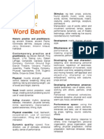 Physical Theatre Word Bank