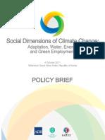 ADB Social Dimensions Climate Change