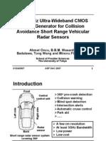 CMOS Short Range Radar Sensor