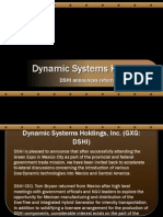 dynamic systems holdings - DSHI announces return visit to Mexico