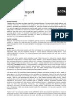 P3 December 2009 Examiner Report