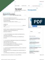 Examen de Secundaria - Documentos - Blancacruzclavel