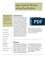 Military Dog Facilities Design Guide