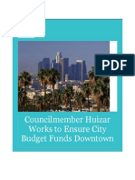 Councilmember Huizar Works to Ensure City Budget Funds Downtown Community Plans