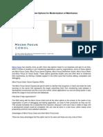 Micro Focus Cobol — New Options for Modernization of Mainframes