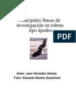 Principales líneas de investigación en robots reptores tipo ápodos