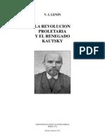 LENIN - LA REVOLUCIÓN PROLETARIA Y EL RENEGADO KAUSKY