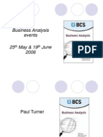 BCS Business Analysis Events