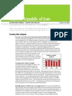 SEB Country Analysis 2007 Iran