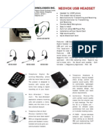 Neovox Kj 1000r, 1000b Brochure Usb