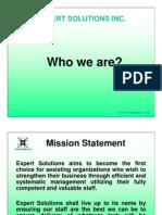 Expert Solutions Company Profie