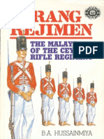 Orang Regimen - The Malays of the Ceylon Rifle Regiment - B.A. Hussainmiya