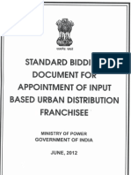 SBD for Appointment of Input Based Urban Distribution Franchisee