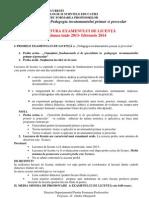 Structura Tematica Licenta Pipp