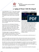 Method to Delay Aging of Stem Cells