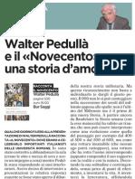 Walter Pedullà racconta il Novecento - l'Unità 11.06.2013