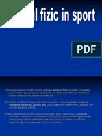 Efortul Fizic in Sport