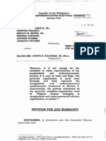 Disqualification case vs. Palparan