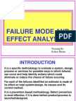 Failure Mode and Effect Analysis-FMEA