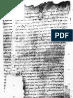 Manoscritto Originale - Qumram - Rotolo Di Isaia